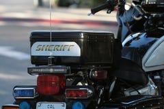 Motocicleta do xerife Imagem de Stock