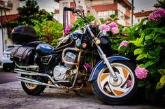 Motocicleta dos esportes na noite Foto de Stock Royalty Free