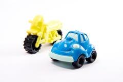 Motocicleta e carro Foto de Stock