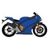 Motocicleta em um fundo branco ilustração royalty free