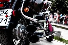Motocicleta en el estacionamiento Imagen de archivo