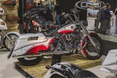 Motocicleta en la exhibición en EICMA 2014 en Milán, Italia Foto de archivo libre de regalías