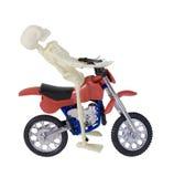 Motocicleta esquelética del montar a caballo Fotos de archivo libres de regalías