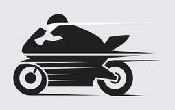 Motocicleta estupenda de la velocidad ilustración del vector