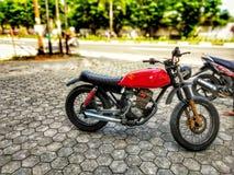 a motocicleta feita sob encomenda transforma-se um japstyle foto de stock