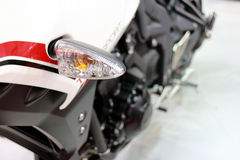 Motocicleta Front Light Closeup Foto de archivo libre de regalías