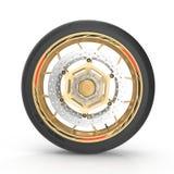 Motocicleta Front Wheel del deporte en blanco ilustración 3D Libre Illustration