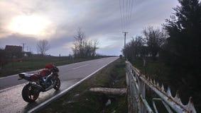 Motocicleta Honda CBR 900 RR fotos de archivo libres de regalías