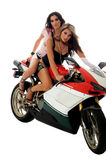 Motocicleta Hotties foto de stock