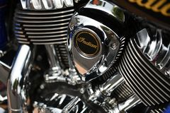 Motocicleta indiana, Sturgis, South Dakota, em agosto de 2017 Fotografia de Stock
