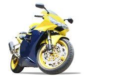 Motocicleta isolada fotografia de stock