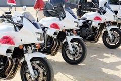 Motocicleta japonesa de la policía Foto de archivo libre de regalías