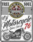 Motocicleta Logo Graphic Design de la camiseta del cráneo Fotografía de archivo