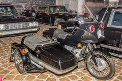 Motocicleta M-14 del acompañamiento Foto de archivo
