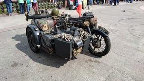 Motocicleta militar alemana fotografía de archivo