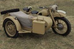 Motocicleta militar de WWII. Fotografía de archivo