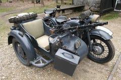 Motocicleta militar vieja Imágenes de archivo libres de regalías