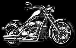 Motocicleta monocromática del vintage en bakcground oscuro Imagen de archivo libre de regalías
