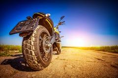 Motocicleta na estrada Fotos de Stock