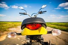 Motocicleta na estrada Foto de Stock Royalty Free