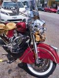 Motocicleta na montagem Airey North Carolina Imagens de Stock