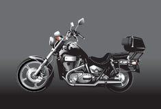 Motocicleta negra Foto de archivo libre de regalías