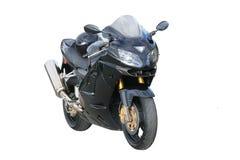Motocicleta negra. Imagen de archivo
