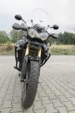 Motocicleta no estacionamento Imagem de Stock Royalty Free