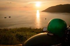 Motocicleta no ponto de vista Imagem de Stock Royalty Free