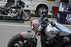 Motocicleta pintada como um avião de combate P-51 Foto de Stock Royalty Free