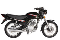 Motocicleta preta fotografia de stock