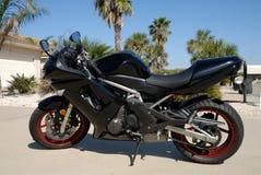 Motocicleta preta Imagem de Stock Royalty Free