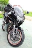 Motocicleta preta do esporte Fotografia de Stock Royalty Free