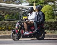 Motocicleta privada de Honda, Zoomer X imagenes de archivo
