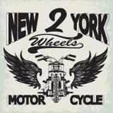 Motocicleta que compete gráficos da tipografia Bicicleta da velha escola ilustração stock