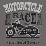 Motocicleta que compete gráficos da tipografia califórnia Fotografia de Stock Royalty Free