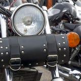 Motocicleta que dirige o saco preto para motociclistas Fotografia de Stock Royalty Free
