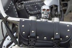 Motocicleta que dirige o saco preto para motociclistas Foto de Stock Royalty Free
