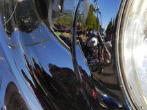 Motocicleta refletindo Fotografia de Stock