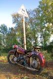 Motocicleta retro Imagens de Stock
