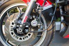 Motocicleta retro de Kawasaki GPZ fotografada fora Bicicleta legendária do filme Top Gun Imagem de Stock