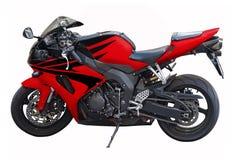 Motocicleta roja Fotos de archivo