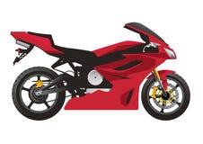 Motocicleta roja del deporte Imagenes de archivo