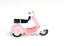 Motocicleta rosada del juguete Imagen de archivo libre de regalías