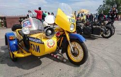 Motocicleta soviética de la policía foto de archivo