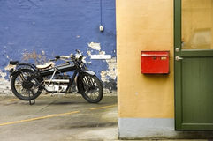 Motocicleta velha Fotografia de Stock