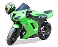 Motocicleta verde Imagenes de archivo