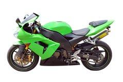 Motocicleta verde Fotografía de archivo