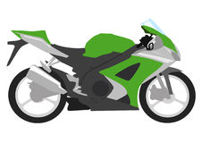 Motocicleta verde Fotos de archivo libres de regalías