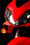 Motocicleta vermelha Imagem de Stock Royalty Free